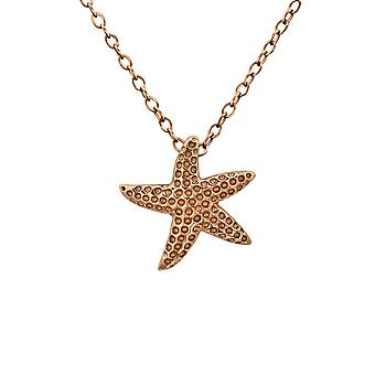 Starfish - 925 Sterling Silver Plain Necklaces - W23782X