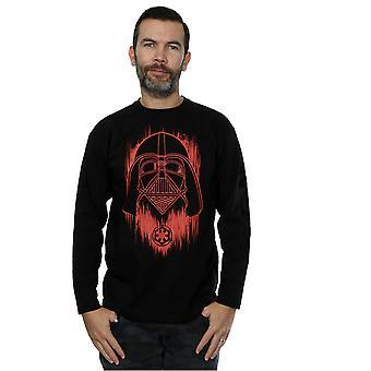 Męskie Star Wars Rogue jeden Vader czerwony farba T-Shirt z długimi rękawami