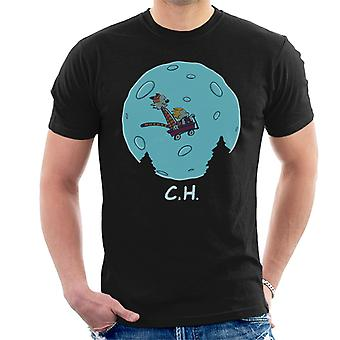 Flying Wagon CH ET Calvin And Hobbes Men's T-Shirt