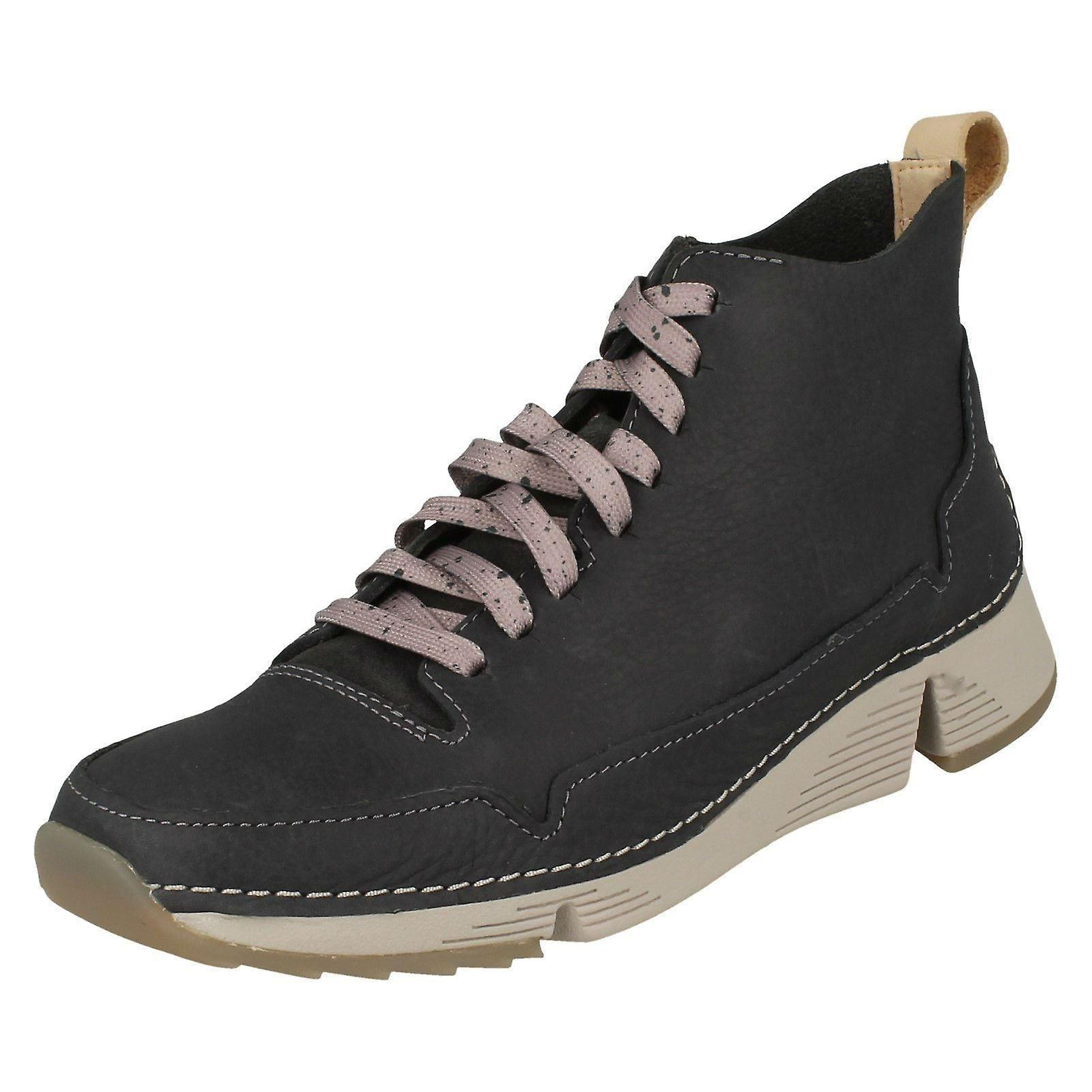 Ladies Clarks Lace Up Sporty Ankle Boot Tri Free 47G89