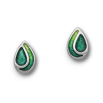 Sterling Silver Cedar moderne contemporain traditionnel Design paire de boucles d'oreilles - EE351