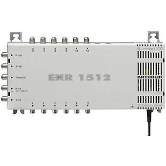 Kathrein EXR 1512 SAT multiswitch Inputs (multiswitches): 5 (4 SAT/1 terrestrial) No. of participants: 12