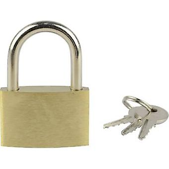 Brüder Mannesmann 413-35 Padlock 32 mm Gold yellow Key
