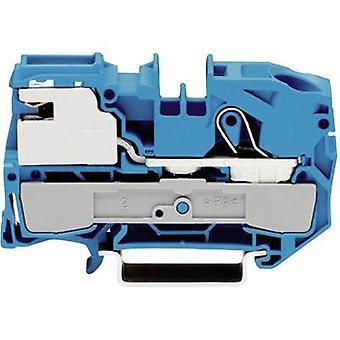 Primavera di WAGO 2016-7114 N terminale 12 mm Pull configurazione: N blu 1/PC