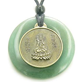 Magic Circle Kwan Yin Quan Dragon Money Talisman Coin Necklace