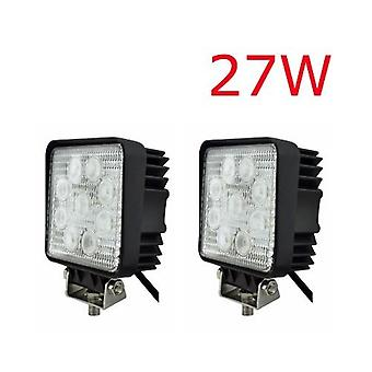 2 x LED Spotlight 27W 9-30V arbeider 2500 Lumen & Backup lampe LED lampe 12V 24V