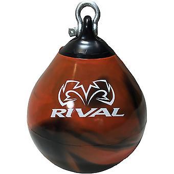 Rivaal boksen Aqua Head Hunter bokszak - 9 inch - zwart/oranje