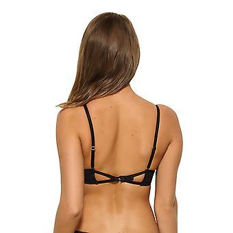 Gossard 15011 feminino VIP atração Floral preto e roxo Underwired sutiã de mergulho de alta Apex