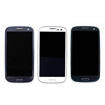 Stuff certificeret® Samsung Galaxy S3 i9300 skærm (touchscreen + AMOLED + dele) AAA + kvalitet-blå/sort/hvid