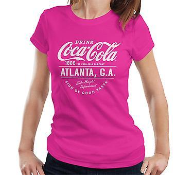 Coca Cola Atlanta GA witte tekst Women's T-Shirt
