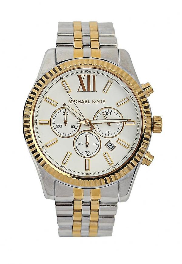 Michael Kors Mens' Lexington Watch - MK8344 - White/Gold/Steel