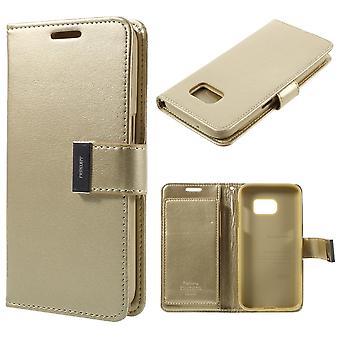 MERCURY Goospery Rich Diary Samsung Galaxy S7-Champagne