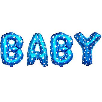 BLUE BABY WORD FOIL BALLOON 16INCH