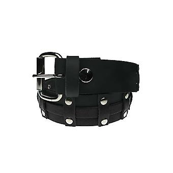 Bullet 69 Vertical Strips & Rivet Stud Leather Belt