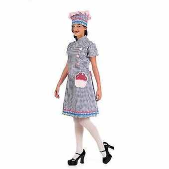 Costume Lady boulanger pâtissier Capcake Mesdames costume