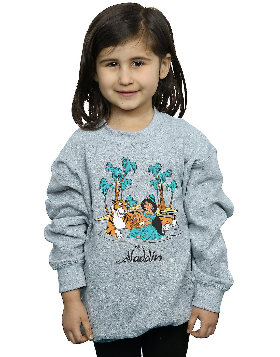 Disney Girls Aladdin Jasmine Abu Rajah Beach Sweatshirt