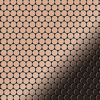 Fém mozaik Réz ötvözet Penny-CM