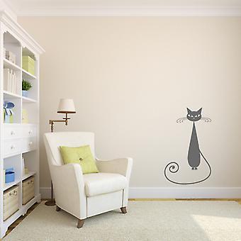 Siamese Tall Cat Wall sticker V4