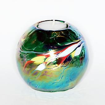 Milford Collection Round Globe Tealight Holder - Green
