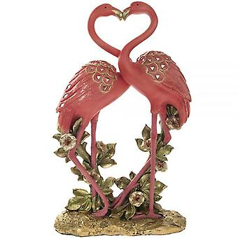 Exotic Art Flamingos Figurine Ornament 12.5 Inch Home Decoration