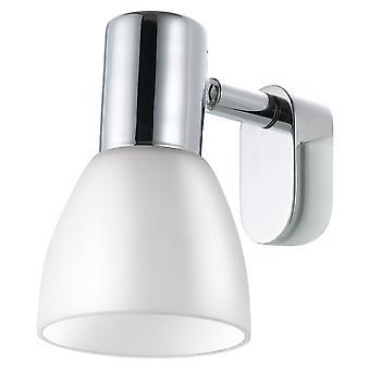 Eglo - autocollant 1 lumière miroir moderne en verre dépoli blanc lumière ombre chromé EG85832