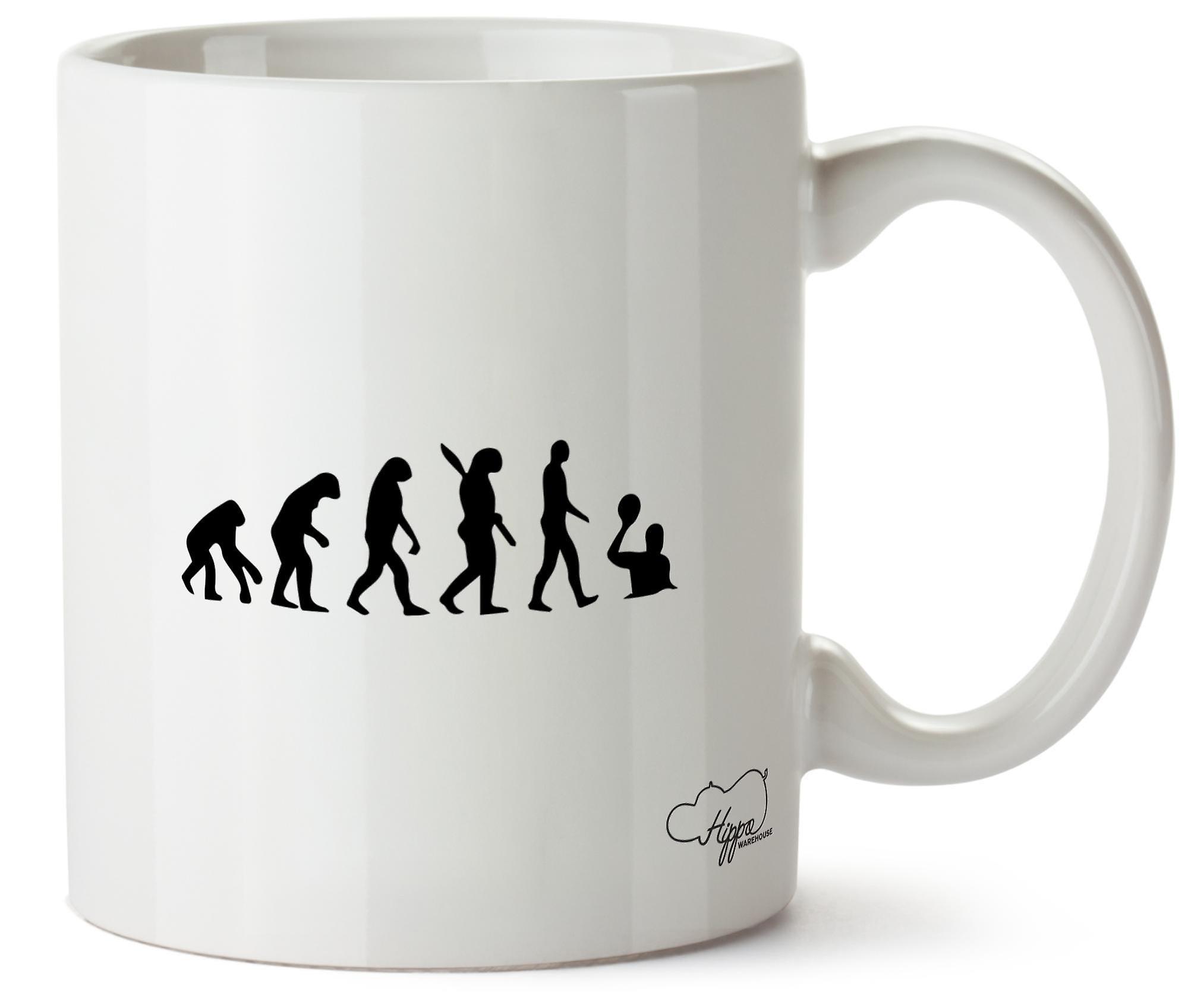 Hippowarehouse Evolution Of Water Polo Players Printed Mug Cup Ceramic 10oz