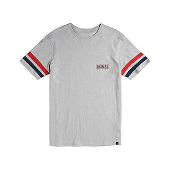 Animal Rixon kort ermet T-skjorte i grå Marl