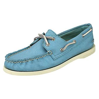 Ladies Sperry Top-Sider Slip On Deck Shoes A/O 2-Eye Twill