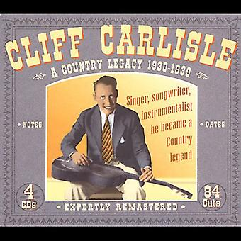 Cliff Carlisle - Country Legacy 1930-39 [CD] USA import
