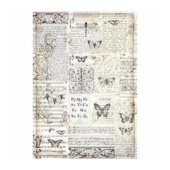Stamperia Rice Paper A3 Butterflies