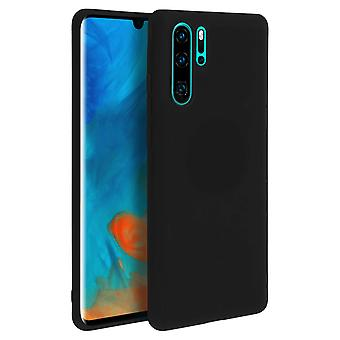 Case for Huawei P30 Pro, soft touch cover, silicone case – Black