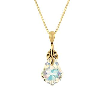 Eterna colección barroco Aurora Borealis 14ct oro Vermeil colgante collar