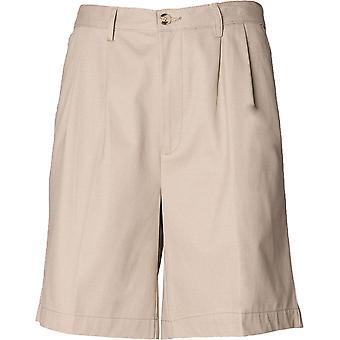 Henbury - Mens Teflon®-Coated Double Pleat Front Chino Shorts