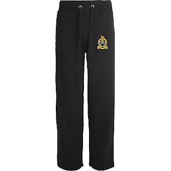 Gurkha Staff - Support personnel - Licensed British Army Embroidered Open Hem Sweatpants / Jogging Bottoms