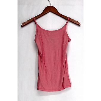 Agiato Tank Top W/ Adjustable Straps Camisole Pink Womens