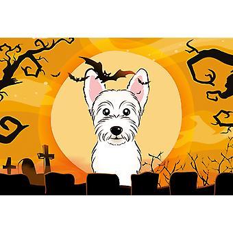 Carolines schatten BB1784PLMT Halloween Westie stof placemat
