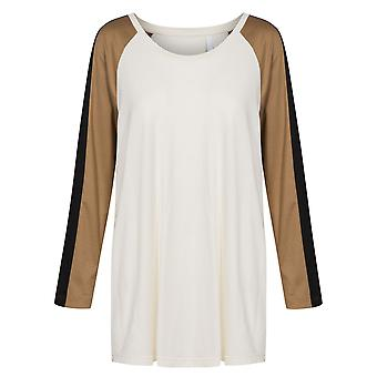 Rosch 1194557-10640 Women's Curve Creme Off-White Cotton Pyjama Top