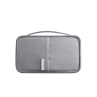 RFID Protection-Grey Universal Travel wallet Passport case