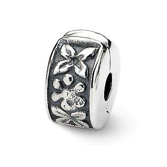 925 Reflexos de prata esterlinas dobradiças clipe floral bead charme colar de joias de joias para mulheres