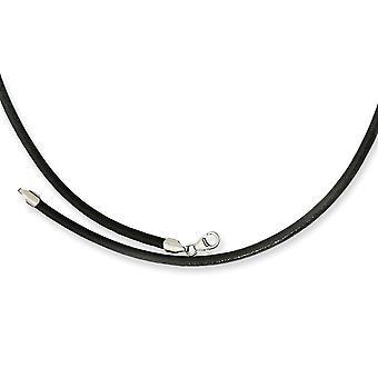 3.00 Leder gepolijst Fancy Lobster Sluiting Griekenland getextureerde ketting sieraden geschenken voor vrouwen - Lengte: 18 tot 20