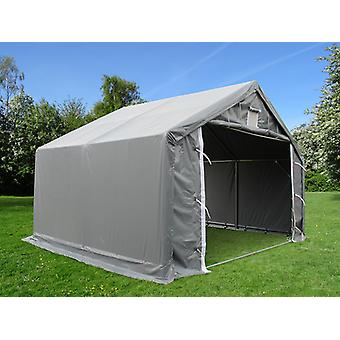 Storage shelter PRO 5x4x2x3.39 m, PVC, Grey