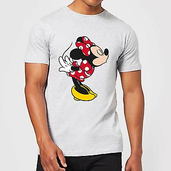 Disney Mickey Mouse Minnie Split Kiss Camiseta - Gris