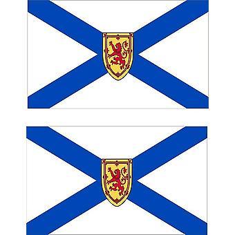2 X Aufkleber Aufkleber Auto Pc Vinyl Macbook Flagge Kanada Nova Scotia