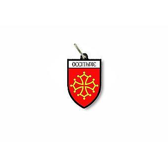 Porte cles clefs cle drapeau collection ville blason occitanie croix