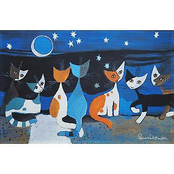 Rosina Wachtmeister Gatti nella notte Accents par Salonloewe Doormat lavable 44 x 67 cm