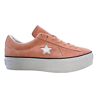 Converse One Star Platform Ox Bleached Coral/Black-White 564382C Femmes-apos;s