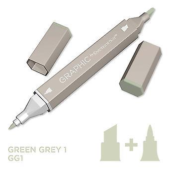 Grafisch door spectrum Noir enkele pennen-groen grijs 1