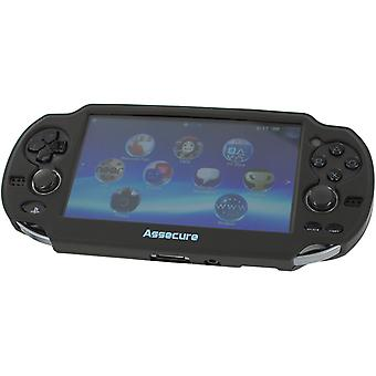 Soft silicone skin protector cover bumper grip case for sony ps vita 1000 - black