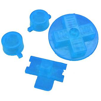 Replacement button set a b d-pad power switch for nintendo game boy original dmg-01 - clear blue