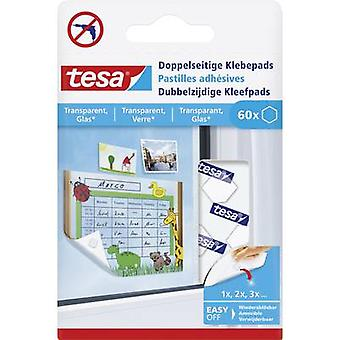 tesa Tesa ® double sided adhesive pads Transparent Content: 60 pc(s)